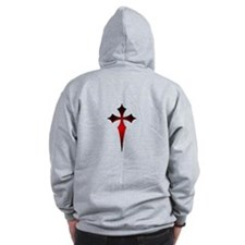 Gothic Fitchy Cross Zip Hoodie