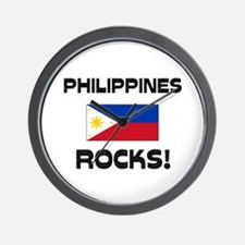 Philippines Rocks! Wall Clock