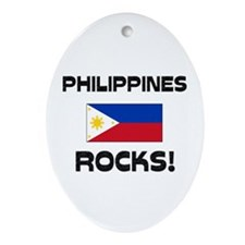 Philippines Rocks! Oval Ornament