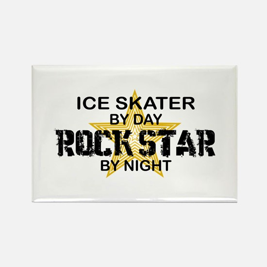 Ice Skater Rockstar by Night Rectangle Magnet