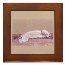 Bedlington-Sweet Dreams Framed Tile