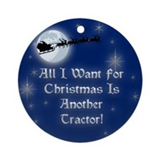 Another Tractor Christmas Ornament (Round)