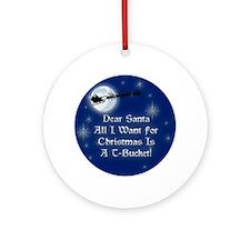 Santa T-Bucket Christmas Ornament (Round)