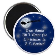 "Santa T-Bucket Christmas 2.25"" Magnet (100 pack)"