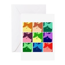 Pop Art Kitty Cat Effects Greeting Cards (Pk of 20