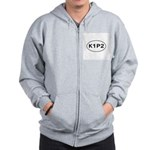 K1P2 - Knit One Purl Two Zip Hoodie