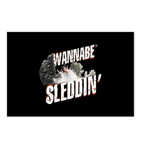 Wannabe Sleddin' Postcards (Package of 8)