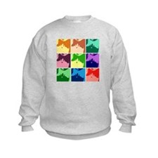 Pop Art Kitty Cat Effects Sweatshirt