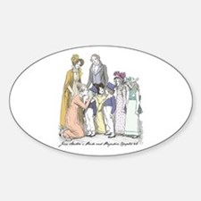 Pride & Prejudice Ch 42 Oval Decal