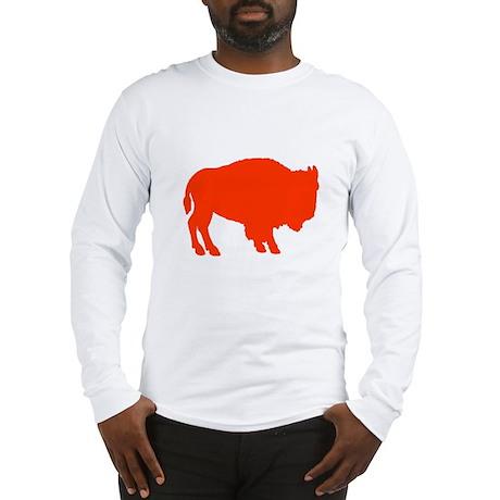 Orange Buffalo Long Sleeve T-Shirt