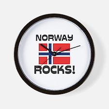 Norway Rocks! Wall Clock