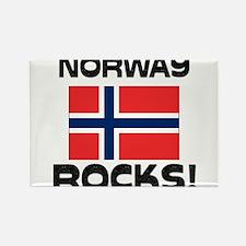 Norway Rocks! Rectangle Magnet