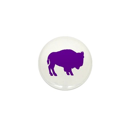 Purple Buffalo Mini Button