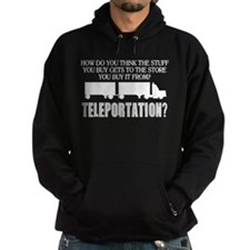 Teleportation Truck Driver Hoodie