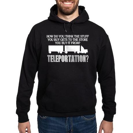 Teleportation Truck Driver Hoodie (dark)