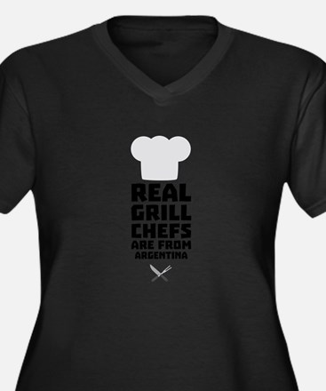Real Grill Chefs are from Argent Plus Size T-Shirt