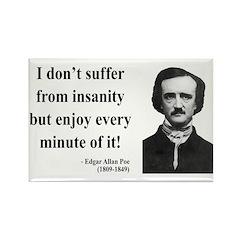 Edgar Allan Poe 17 Rectangle Magnet