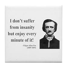Edgar Allan Poe 17 Tile Coaster