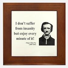 Edgar Allan Poe 17 Framed Tile
