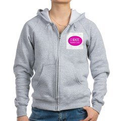 I Knit Therefore I Rock Zip Hoodie
