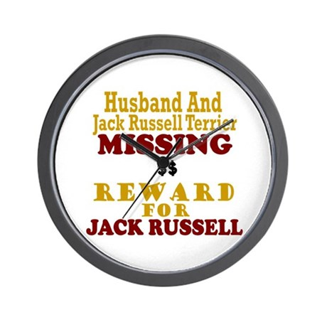 Husband & Jack Russell Terrier Missing Wall Clock