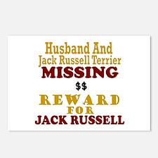Husband & Jack Russell Terrier Missing Postcards (