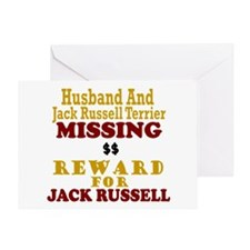 Husband & Jack Russell Terrier Missing Greeting Ca