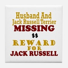 Husband & Jack Russell Terrier Missing Tile Coaste