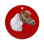 Miniature Horse (Mini) Christmas Ornament (Round)