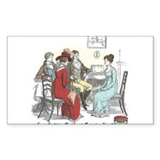 Pride & Prejudice Ch 44 Rectangle Decal