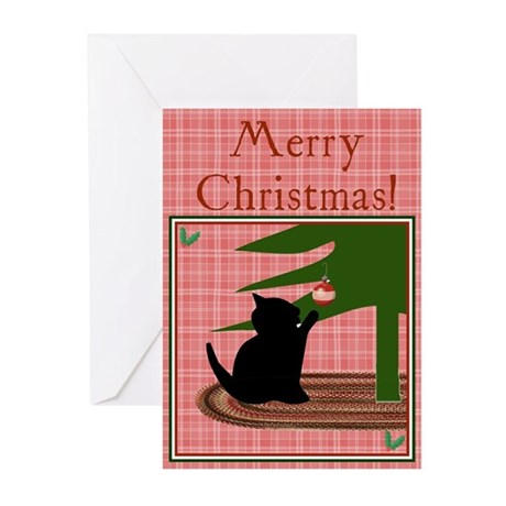 Funny Cat Christmas Greeting Cards (Pk of 10)