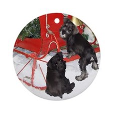 Schnauser Christmas Ornament (Round)