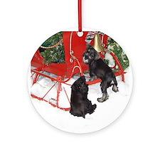 Schnauser Christmas Ornament (Round)