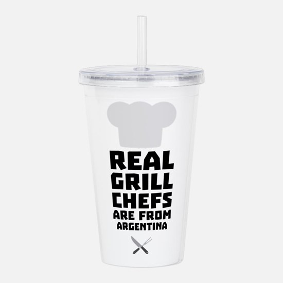 Real Grill Chefs are f Acrylic Double-wall Tumbler