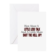 little less talk Greeting Cards (Pk of 20)