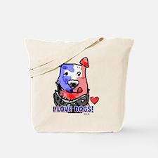 I Love Dogs! Tote Bag