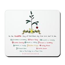 12 Days of Christmas Mousepad