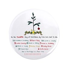 """12 Days of Christmas 3.5"""" Button (100 pack)"""