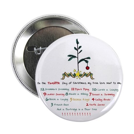"12 Days of Christmas 2.25"" Button"