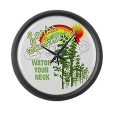 Forks Washington Twilight Large Wall Clock