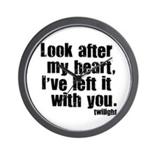 Twilight Movie Quote Wall Clock