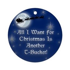 Another T-Bucket Christmas Ornament (Round)