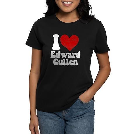 I Love Edward Cullen Women's Dark T-Shirt