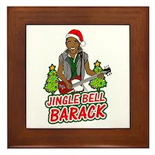 Barack and Roll Funny Obama S Framed Tile