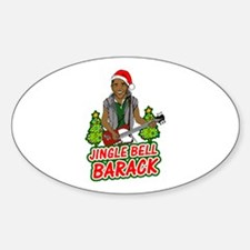 Barack and Roll Funny Obama S Oval Decal