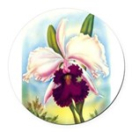 Gorgeous Orchid Vintage Painting Print Round Car M