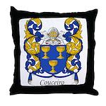 Couceiro Family Crest Throw Pillow