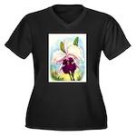 Gorgeous Orchid Vintage Painting Print Plus Size T