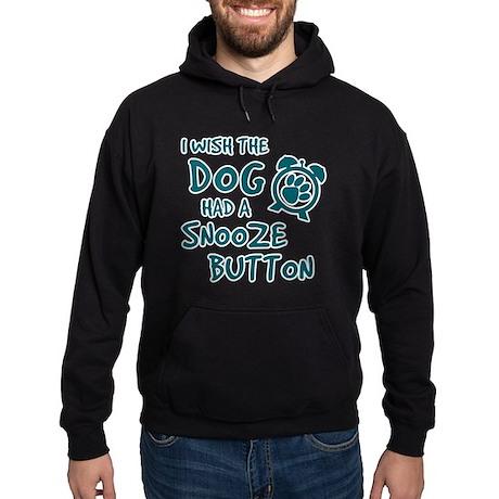 Dog Snooze Button Hoodie (dark)