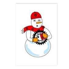 Mechanical Snowman Postcards (Package of 8)